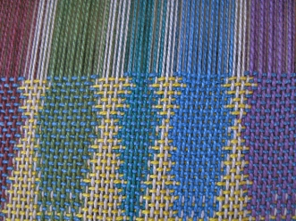 double-weave-fabric-on-the-loom
